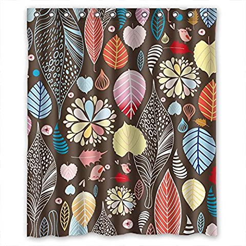 MaSoyy The Leaf Bathroom Curtains Of Polyester Width X Height / 60 X 72 Inches / W H 150 By 180 Cm Decoration Gift For Him Teens Girls Artwork Teens. Waterproof Material (The Nanny With The Skull)