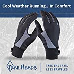 TrailHeads Running Gloves | Lightweight Gloves with Touchscreen Fingers