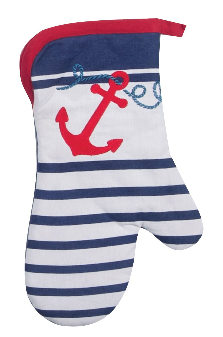 Kay Dee Designs Anchor's Away Nautical Embroidered Oven Mitt