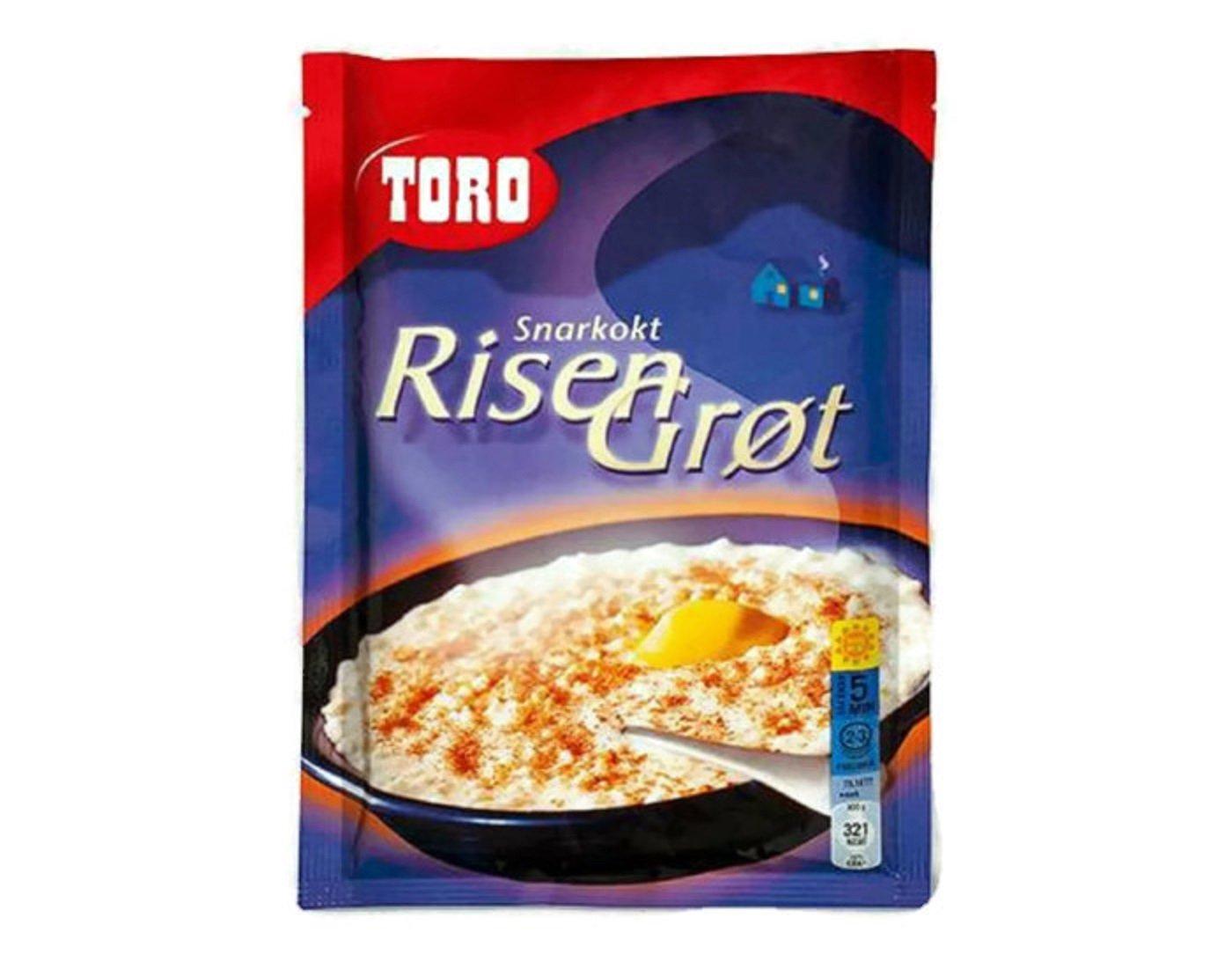 Toro Instant Rice Porridge Mix - 2 Packs (Snarkokt Risen Grot) - Imported Norwegian Food 4 to 6 Servings