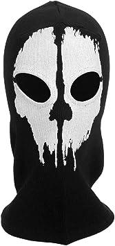 Masque Paintball Tête de Mort Noir