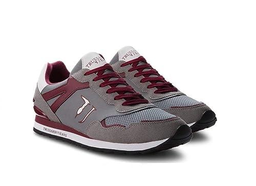 Trussardi Jeans Sneaker Donna 79A00256 Grigio (40 EU)  Amazon.it ... 12fd3a2d4e0