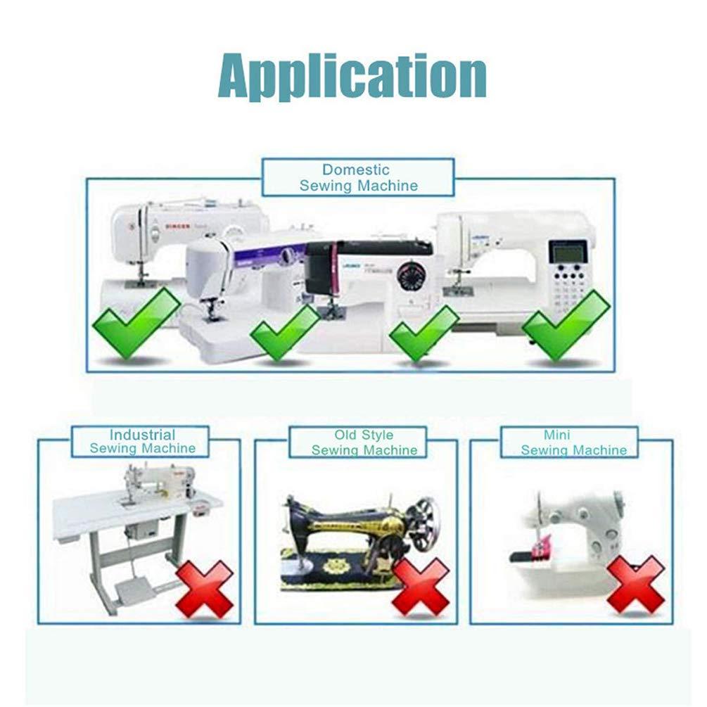 Piezas de Prensatelas para Máquinas de Coser, Accesorios de Máquina de Coser Caseros Prácticos Profesional - 42 Pcs: Amazon.es: Hogar