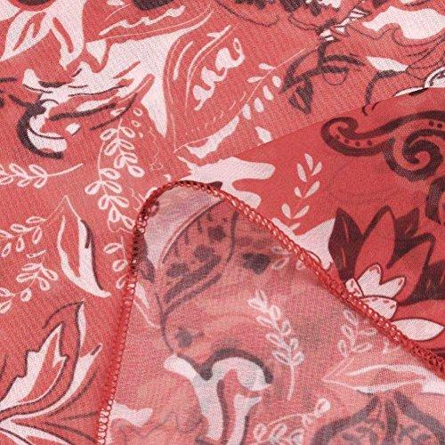 donna da Maniche Camicetta Spalle shirt donna floreale shirt T donna T top Larga Camicie ampie polo sportive da Camicia donna lunghe da Maglioni da e Camicetta più donna Rosso YanHoo Stampa da e PwqO4P68