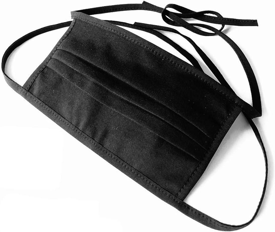 Stoff Maske Mund Nasen Maske Aus 100 Zertifizierter Doppellagiger Baumwolle Schadstoffrei Mit Filtertasche Zum Binden Schwarz Gesichts Maske Unisex Waschbar Baumarkt