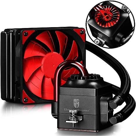 DEEPCOOL Captain 120EX Refrigeración Líquida CPU Silencioso AIO de Alto Rendimiento con Bomba LED Blanco, 120mm PWM Ventilador Silencioso(AM4 Compatible, Adaptador ...