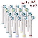 Testine di ricambio di tipo compatibile per spazzolino elettrico oral b - Confezione da 16
