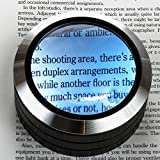 WITHit Lighted Dome Magnifier - Aluminum 3 LED Lighted Reading Magnifier - Black