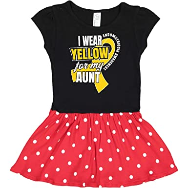 inktastic I Wear Yellow for My Great Aunt Endometriosis Awareness Baby T-Shirt