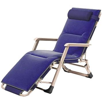 MLX Silla De Salón Azul Marino, Tumbona, Silla Plegable para ...