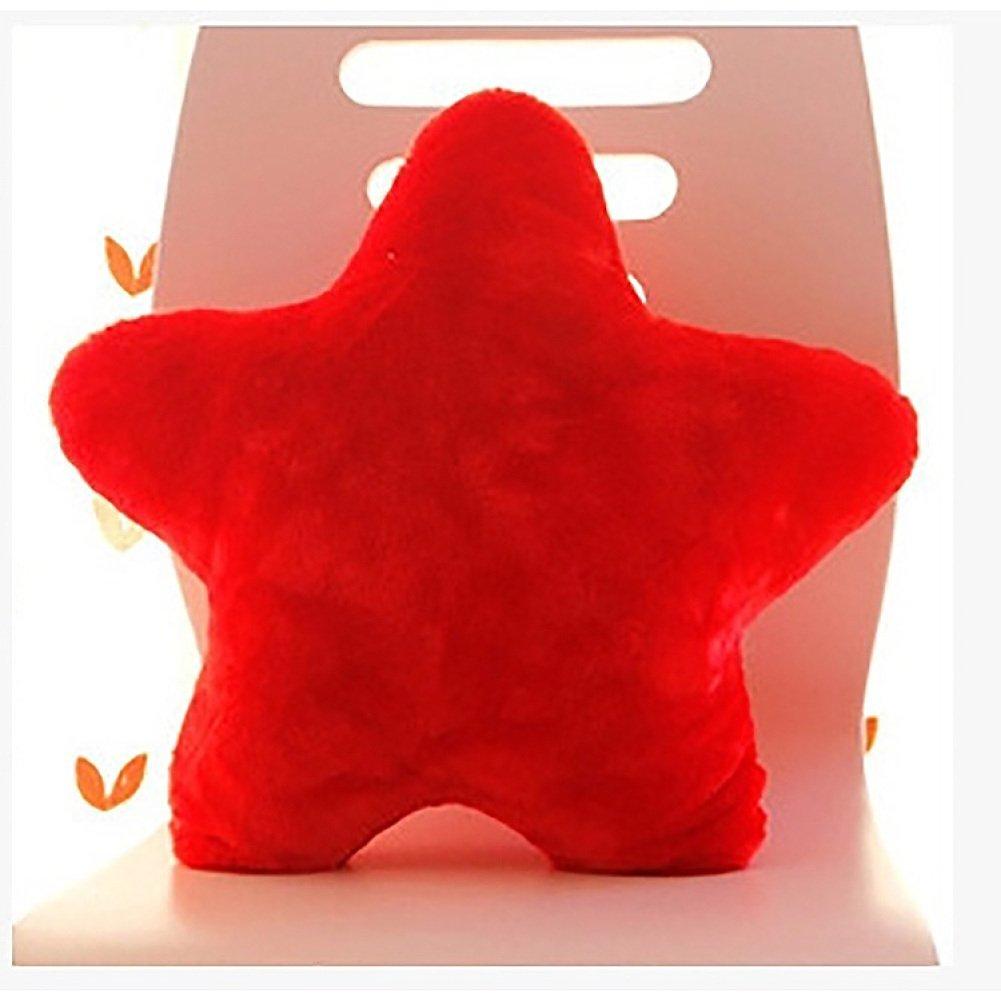 BENHAI 1 pillow 38cm colorful five-pointed star cushion throw Pcs sofa waist support home decoration car decoration lovely gift sofa colorful