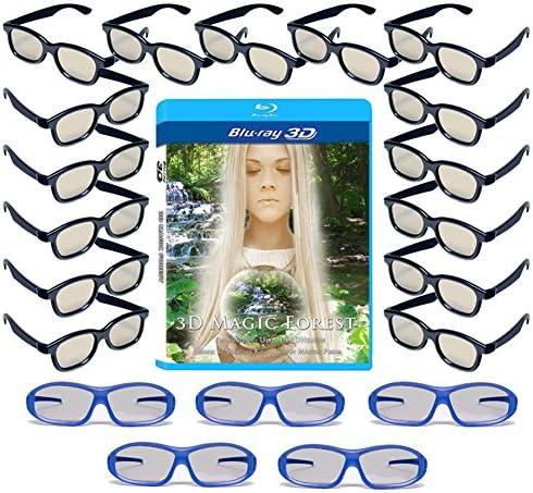 20 범용 패시브 3D 안경 LG  및 기타 패시브 3D TV용 - 플라스틱 3D 안경 - 3D ?5 프리미엄 마스터 이미지 및 15 성인 RealD 호환 3D 안경 포함 / 20 범용 패시브 3D 안경 LG  및 기타 패시브 3D TV용 - 플라스틱 3D 안경 - 3D ?5 프리미엄 마스터 ...