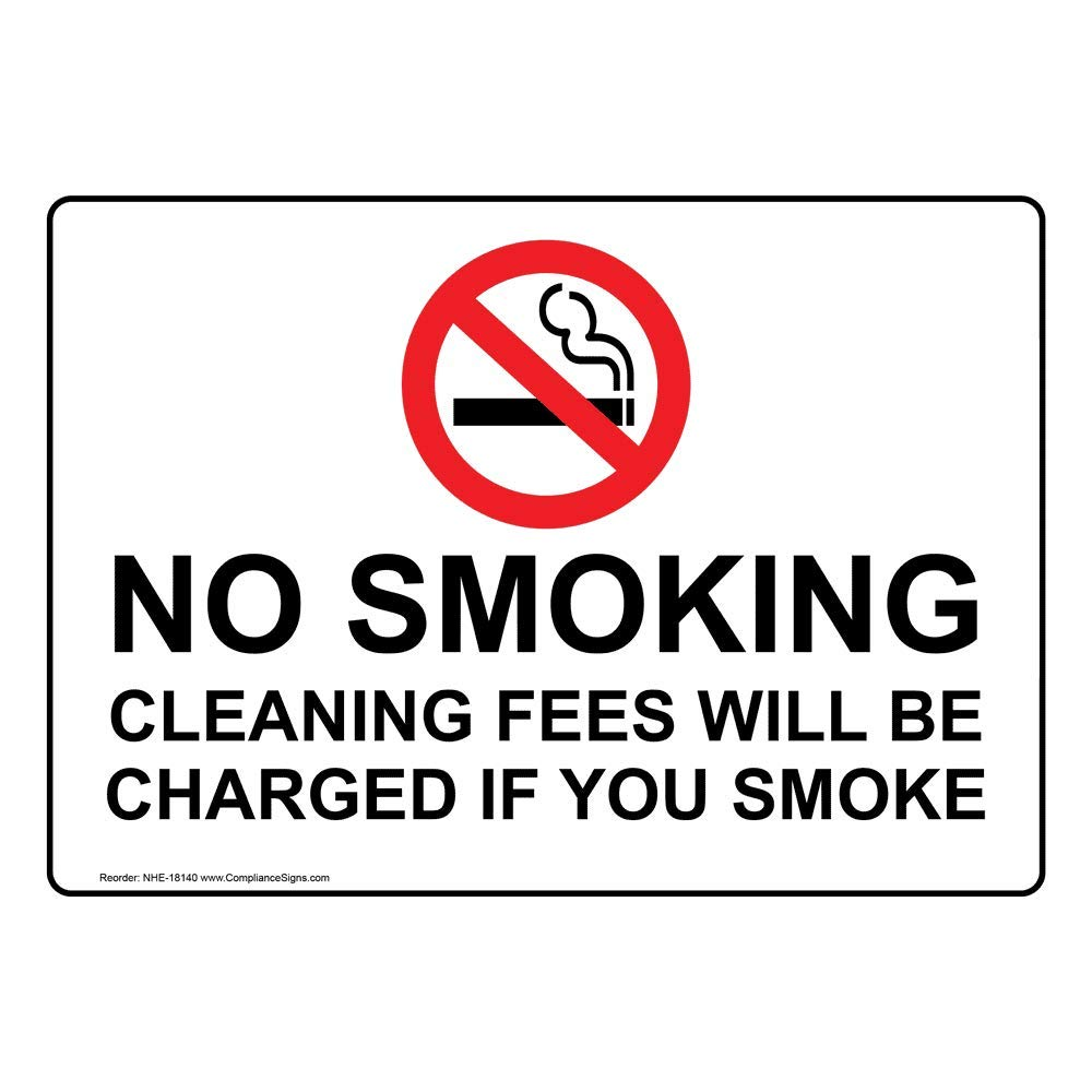 Amazon.com: compliancesigns no smoking señal de plástico, 5 ...