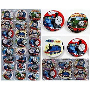 """Thomas the Train Buttons Set Birthday Party Favors Set of 24 Party Backpack 2"""" Buttons"""
