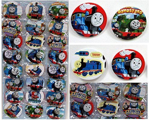 Thomas the Train Buttons Set Birthday Party Favors Set of 24