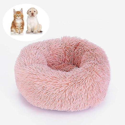 CQLXZ Cama para Gatos con Forma De Rosquilla, Cama para Mascotas ...