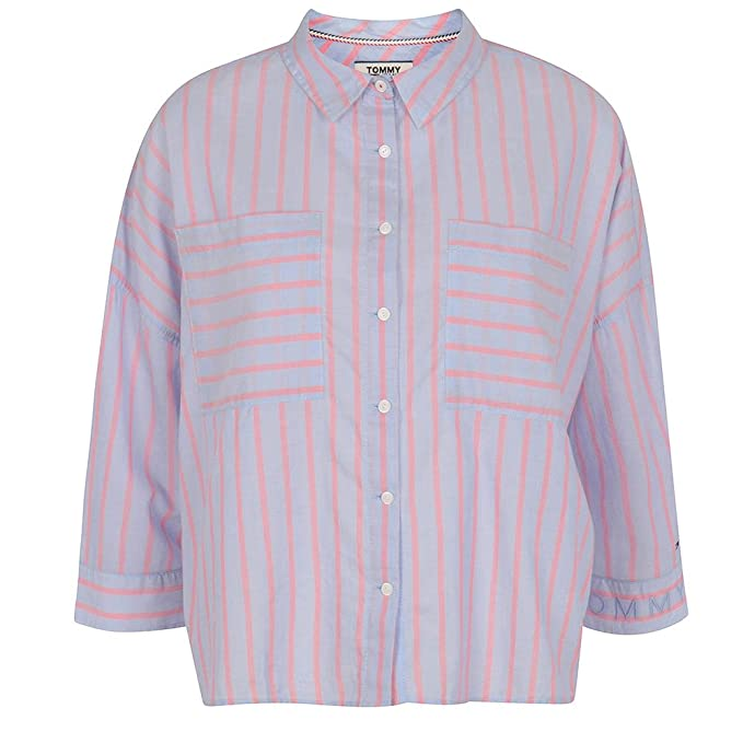 Tommy Hilfiger DW0DW03636 Camisa Mujeres Azul S