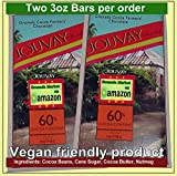 Jouvay Touch of Nutmeg Chocolate Bar (60% Cocoa Content) - 2 Bars @ 3.5 oz ea - Product of Grenada