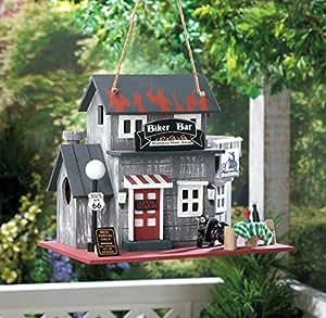 Biker Bar madera Birdhouse–Patio jardín decoración; suministro _ por _ attas-general-store