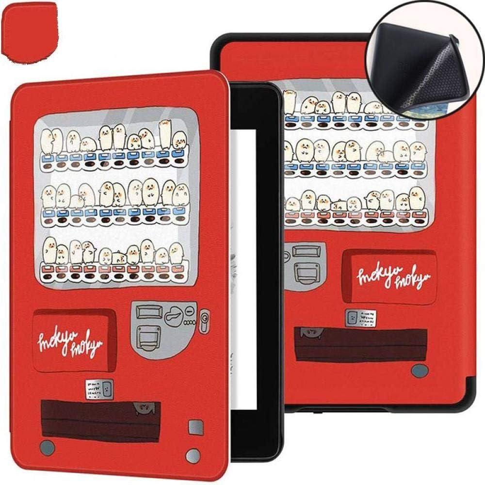 Funda para Kindle Paperwhite,Estuche Rojo con Estampado De Máquina Expendedora Novedosa para Kindle Paperwhite 10Th 2018 Pq94Wif Carcasa con Tapa Inteligente Más Delgada Y Ligera con Función De D