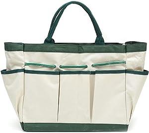 Janeflower Garden Tool Bag & Garden Tote, Garden Tool Organizer with 8 Gardening Tool Storage Pockets