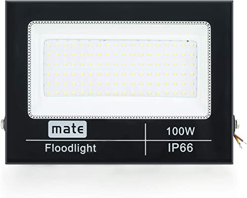 Gopretty LED 100W Flood Light, Full Wattage 13000lm Super Bright Floodlights,Waterproof IP66 Outdoor Exterior Security Lights 110V Day White 6000K