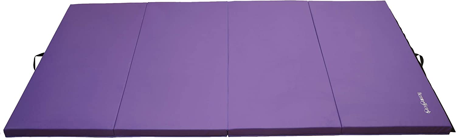 Tri-Fold Folding Gymnastic Mat for Yoga, Pilates, Martial Arts, Stretching and Aerobics, Lightweight and Portable By Hemingweigh