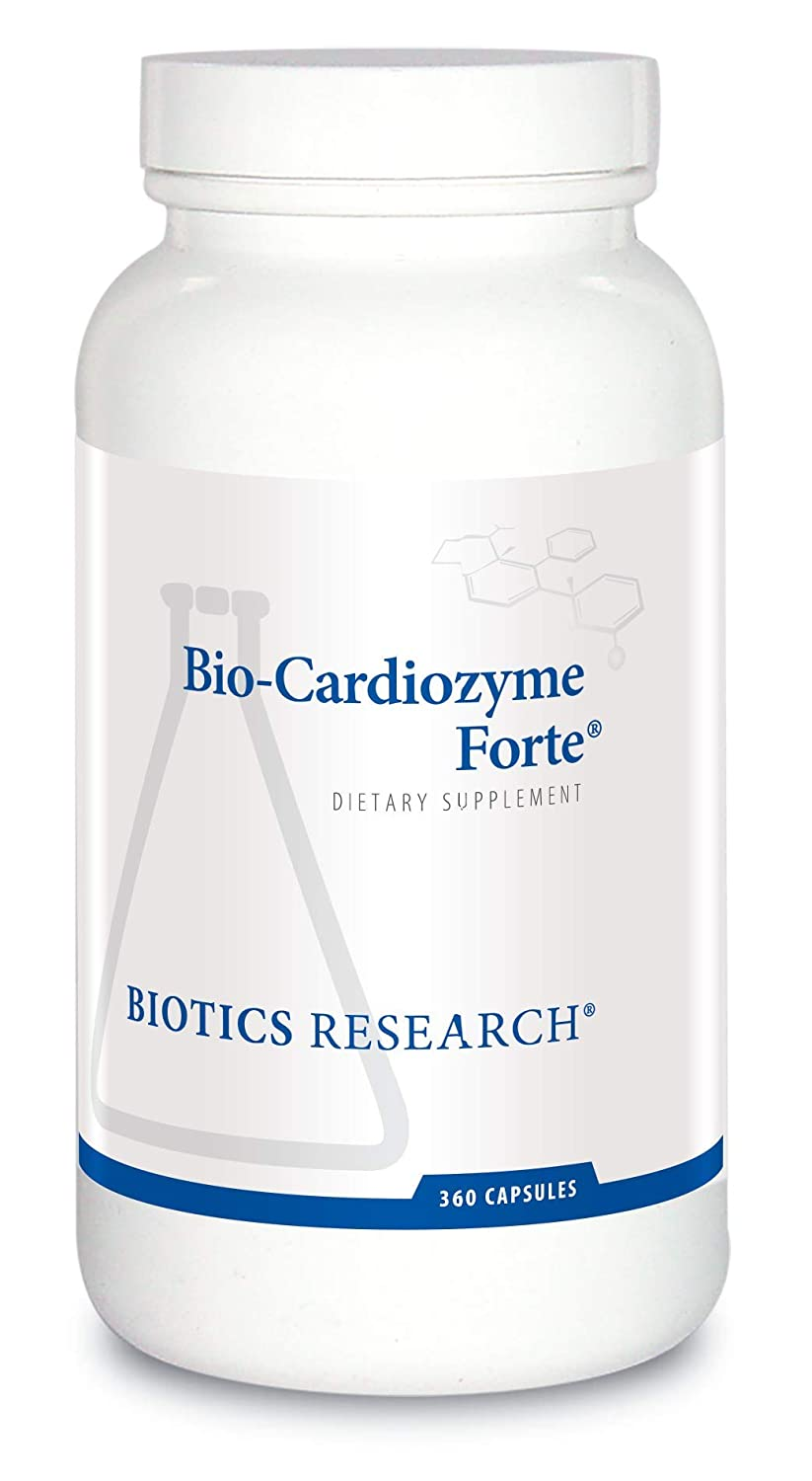 Biotics Research Bio-Cardiozyme Forte Healthy Heart Multivitamin. Broad-Spectrum Formulation Designed to Support Cardiovascular Health and Function. Powerful antioxidant Support 360 Caps