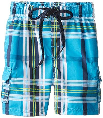 Kanu Surf Little Boys' Toddler Andy Swim Trunks, Aqua, 2T