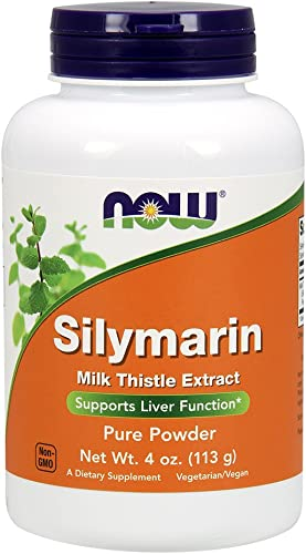 NOW Supplements, Silymarin Milk Thistle Extract Pure Powder, Supports Liver Function*, 4-Ounce