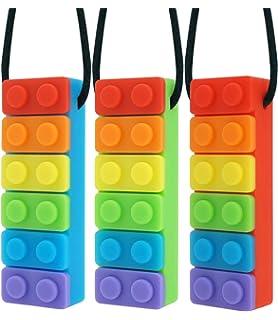 xmas sensory pendant ADHD autism silicone Chewlery necklace stocking filler