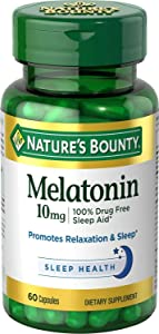 Nature's Bounty Melatonin 10mg Capsules, 60 Count (Pack of 4)