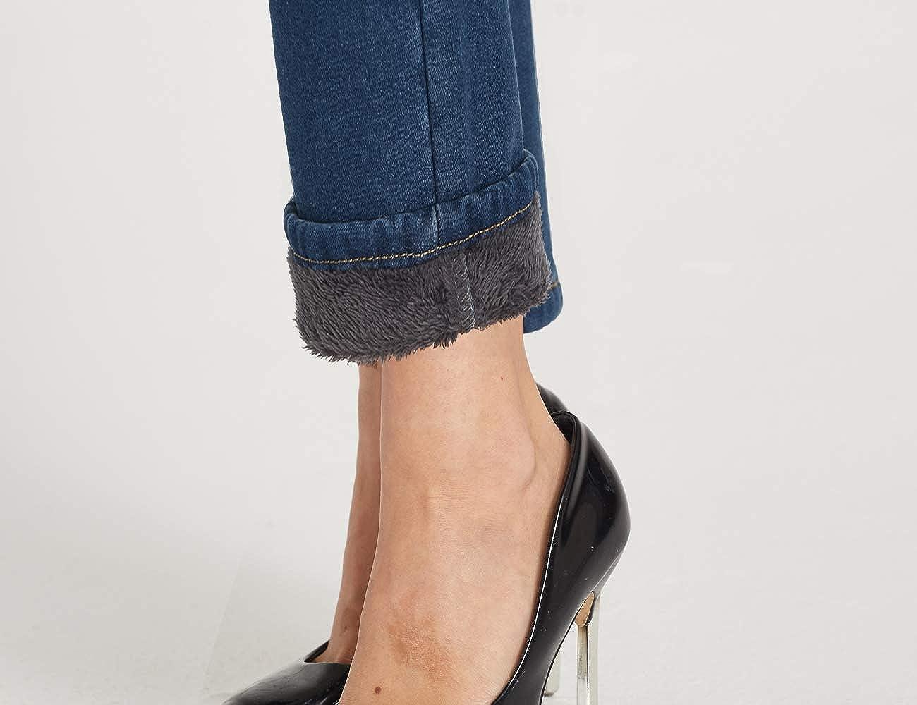 Camii Mia Jeans Skinny Femme Polaire Slim Fit /Épais