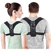 Sonolife - Corrección de la postura de espalda para mujeres, hombres y adolescentes Alivio del dolor de hombros, cuello Ajustable y cómodo dispositivo de soporte para clavícula de la parte superior de la espalda