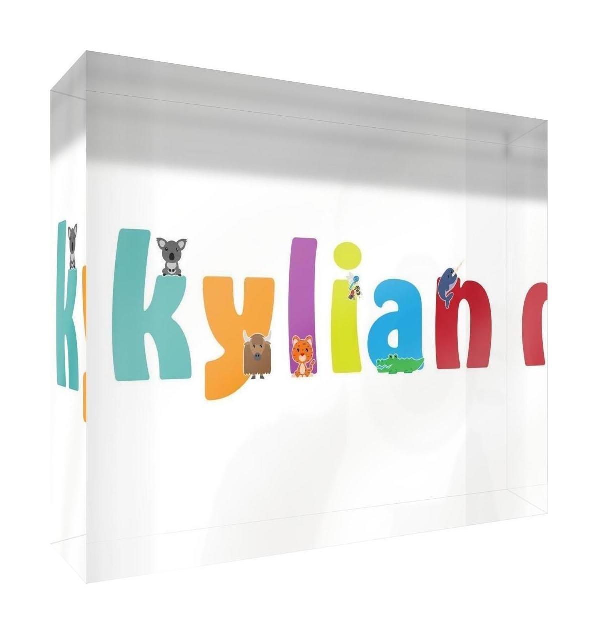 Little Helper recuerdo decorativo de acr/ílico transparente pulido como diamante estilo illustratif pintado con el nombre de joven ni/ño Kylian 5/x 15/x 2/cm peque/ño