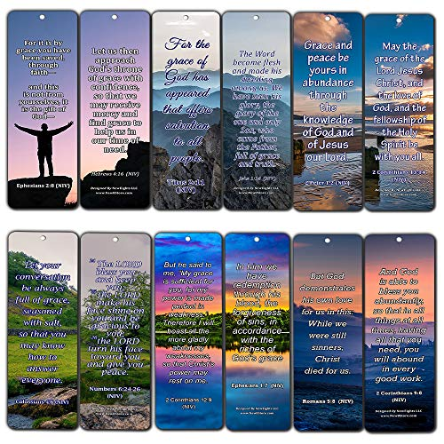 - Bookmarks for Bible Verses About Grace NIV (30 Pack) - Handy Reminder Book Marker About God's Grace