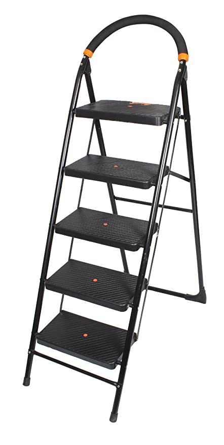 Orril Milano 5 Steps Foldable Ladder with Wide Step