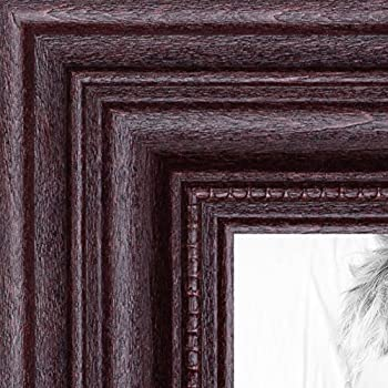 arttoframes 14x17 inch dark cherry stain wood picture frame 2wom0066 81375 ychy 14x17
