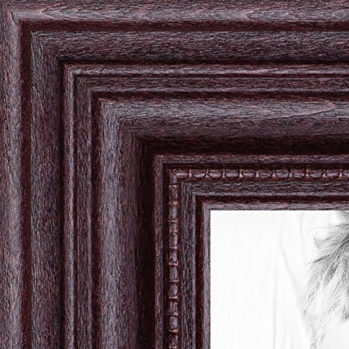 Rectangular Cherry Wood (ArtToFrames 11x17 inch Dark Cherry Stain Wood Picture Frame,)