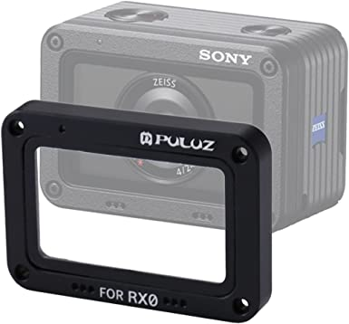 Tempered Glass Lens Protector for Sony RX0 // RX0 II Color : Black XIAOMIN Aluminum Alloy Flame with Screws and Screwdrivers Premium Material