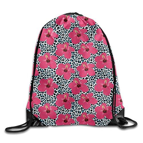 Hibiscus Drawstring Tote Bags - 5