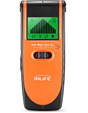 Stud Finder Wall Scanner InLife 4 in 1 Electric Wall Detector Finders with Digital LCD Display, Center Finding Stud Sensor & Sound Warning for Studs/Wood/Metal/AC Wires Detection