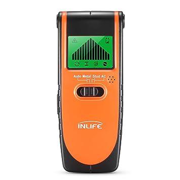 InLife Detector de Madera Perno de Metal Cables de AC Stud Finder Detector Digital con 4
