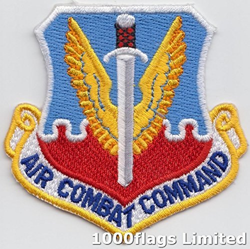 Air Combat Command Crest US Air Force Embroidered Patch (Air Command Patch Combat)