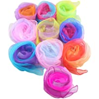 Multiple Gradient Colors Belly Dance Juggling Scarves Rhythm Band Scarves Sensory Toy for Baby/Toddler / Kids 10 Colors…