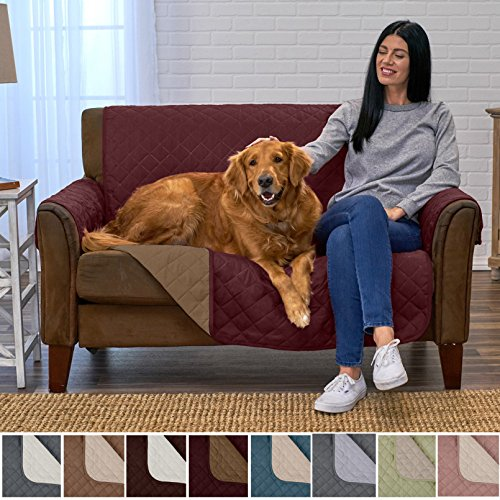 Home Fashion Designs Deluxe Reversible Quilted Furniture Protector and PET PROTECTOR. Two Fresh Looks in One. Perfect for Families with Pets and Kids. By Brand. (Loveseat - - Living Loveseat