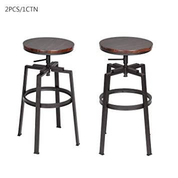Peachy Set Of Two Retro Industrial Style Breakfast Bar Stools With Evergreenethics Interior Chair Design Evergreenethicsorg