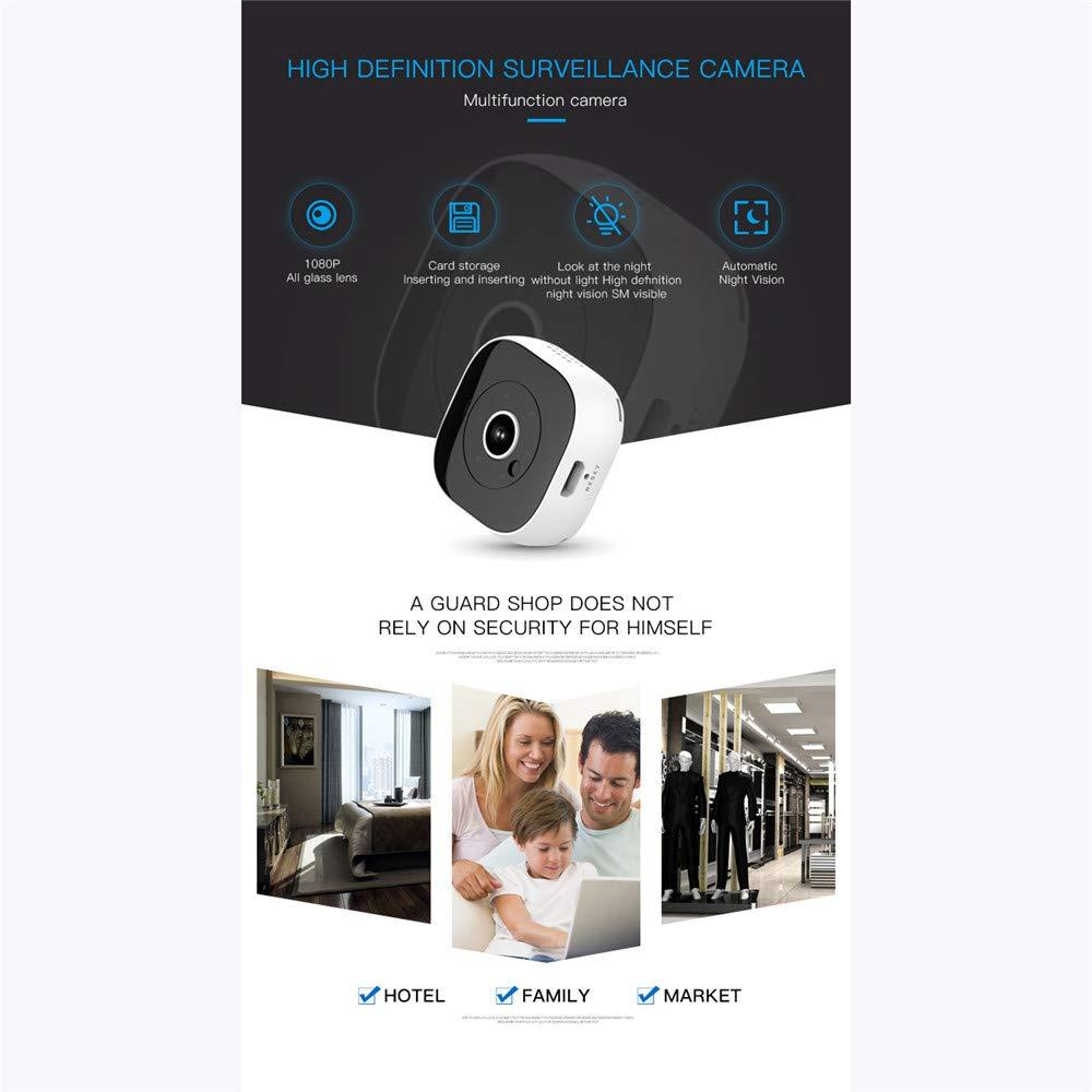 LEDU Mini Cámara Espía WiFi Cámara Oculta Inalámbrica HD 1080P con Detección De Movimiento Visión Nocturna Cámaras De Seguridad Interior,White: Amazon.es: ...
