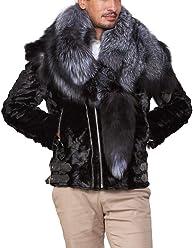 f748ce48e792 Lucas Grey Rabbit Fur Hooded Bomber Jacket for Men. $440.99. See buying  options · frr Gary Mink Fur Biker Jacket with Fox Fur Collar