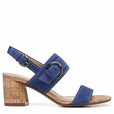 c65216616a86 Image Unavailable. Image not available for. Color  Naturalizer Camden Dress  Sandals Blue ...